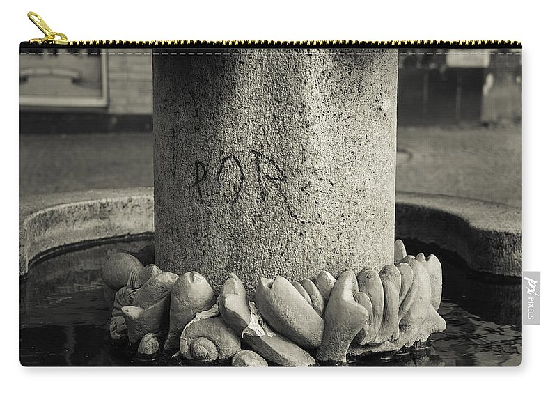 2014 Carry-all Pouch featuring the photograph Fish Market Graffiti by Teresa Mucha