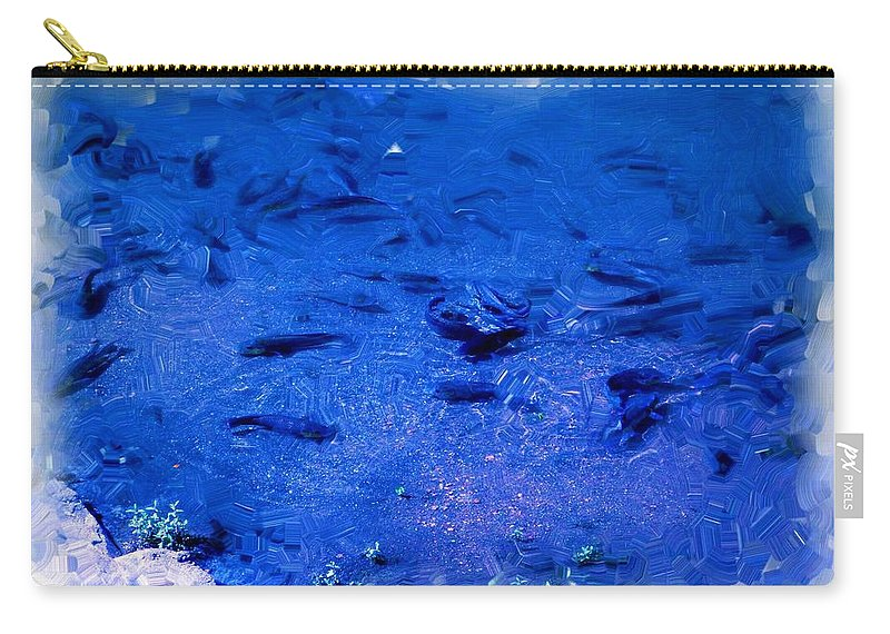 Fish Carry-all Pouch featuring the painting Fish by Usha Shantharam