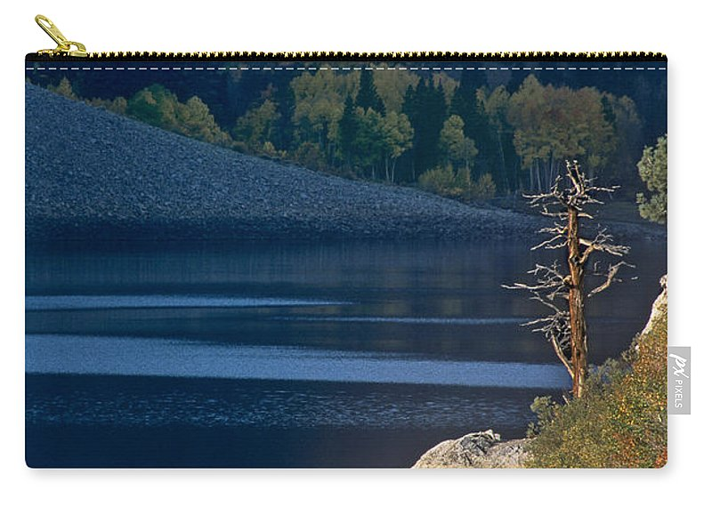 North America Carry-all Pouch featuring the photograph Fisherman On Lundy Lake Eastern Sierras California by Dave Welling