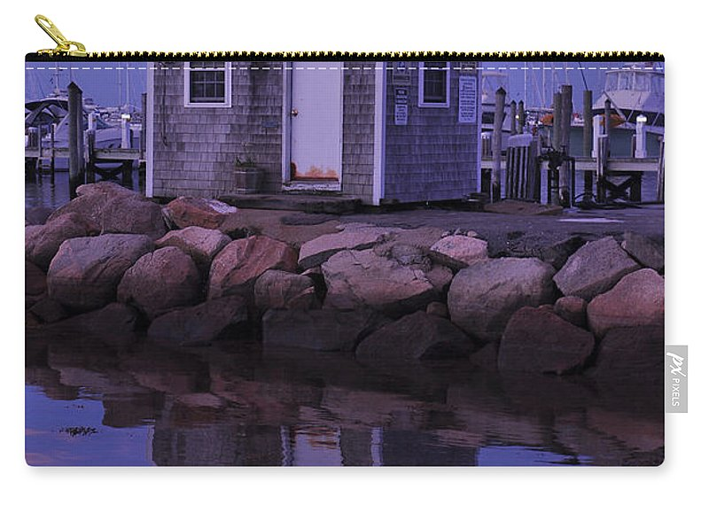 Landscape Carry-all Pouch featuring the photograph Fisherman's Shack Evening by Phyllis Tarlow