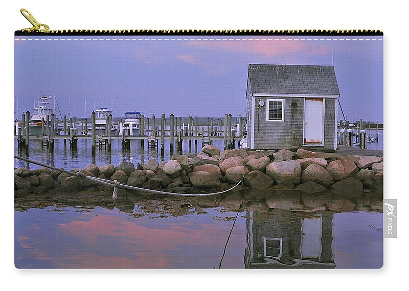 Landscape Carry-all Pouch featuring the photograph Fisherman's Shack Sundown by Phyllis Tarlow