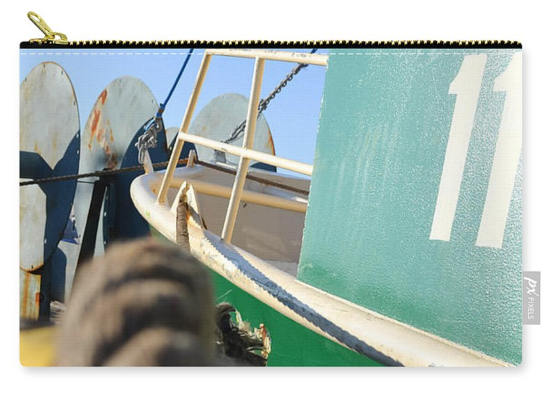 Water Carry-all Pouch featuring the photograph Fishing Boat by Andrea Anderegg