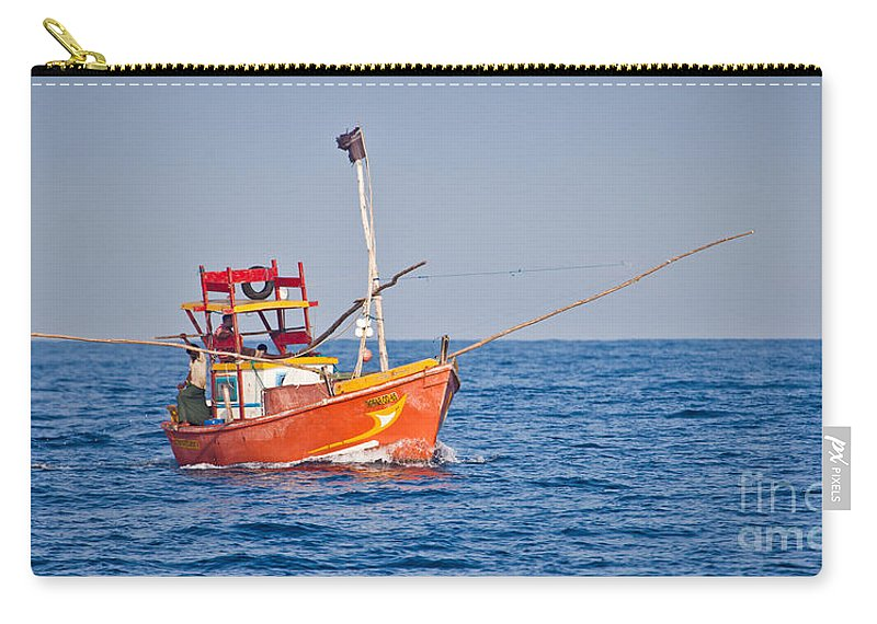 Fishing Boat Carry-all Pouch featuring the photograph Fishing Boat Sri Lanka by Liz Leyden