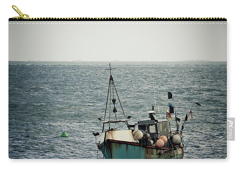 English Channel Carry-all Pouch featuring the photograph Fishing Boat by Vfka