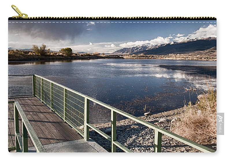 Lake Carry-all Pouch featuring the photograph Fishing Dock by Cat Connor