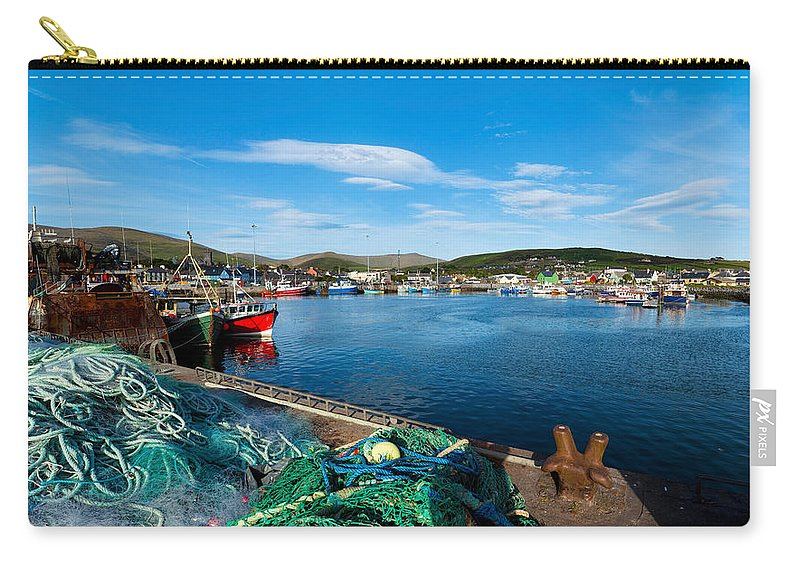 Photography Carry-all Pouch featuring the photograph Fishing Harbor, Dingle Harbour, Dingle by Panoramic Images