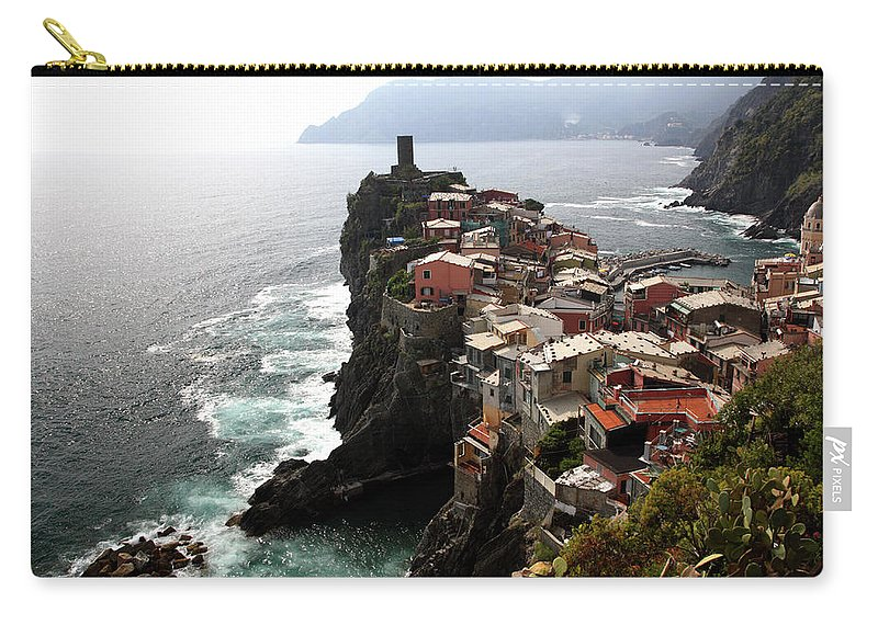Seascape Carry-all Pouch featuring the photograph Fishing Village Of Vernazza, Looking by Bruce Yuanyue Bi