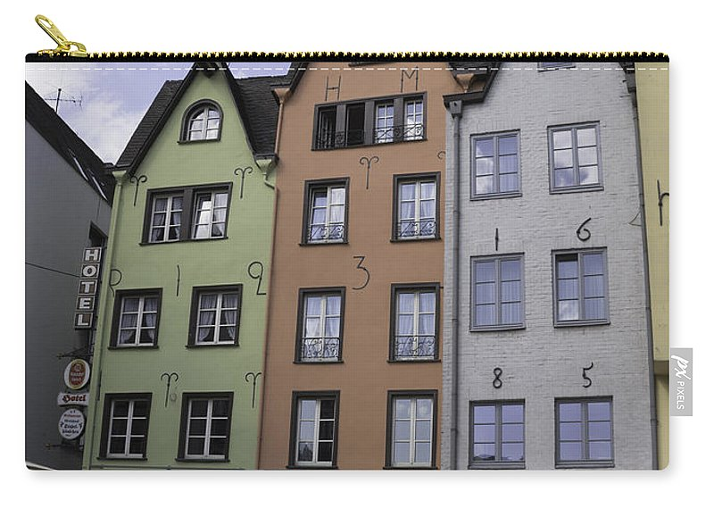 2014 Carry-all Pouch featuring the photograph Fishmarket Townhouses 3 by Teresa Mucha