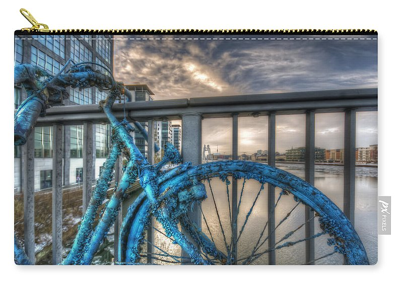 Architecture Carry-all Pouch featuring the digital art Fishy Bike by Nathan Wright