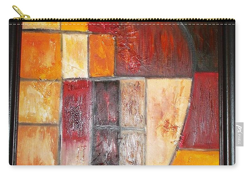 Oil Painting Carry-all Pouch featuring the painting Fit by Yael VanGruber