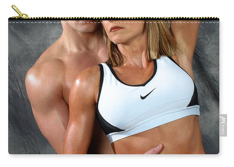 Model Carry-all Pouch featuring the photograph Fitness Couple 27 by Gary Gingrich Galleries