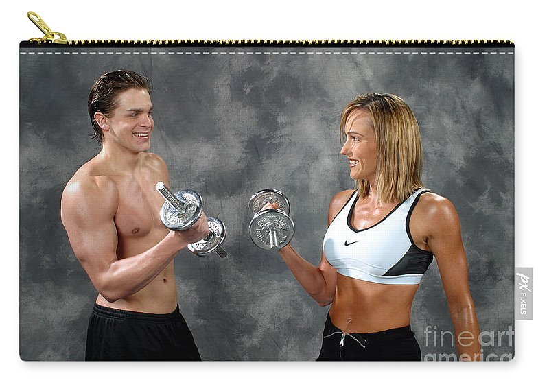 Model Carry-all Pouch featuring the photograph Fitness Couple 9 by Gary Gingrich Galleries