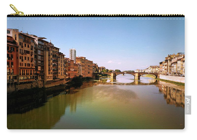 Fiume Di Sogni Carry-all Pouch featuring the photograph Fiume Di Sogni by Micki Findlay