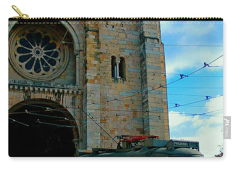 Lisbon Carry-all Pouch featuring the photograph Five Past One by Steve C Heckman