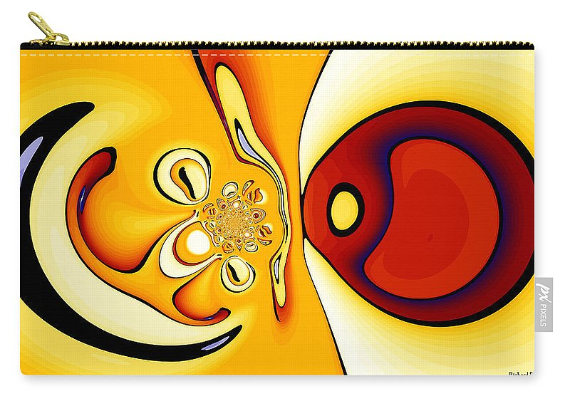 Digital Carry-all Pouch featuring the digital art Fixation by Richard Kelly