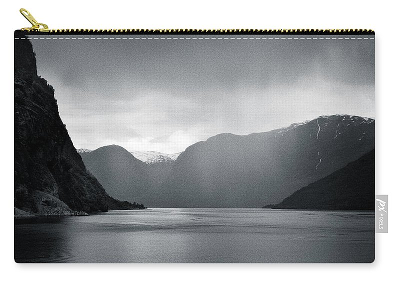 Norway Carry-all Pouch featuring the photograph Fjord Rain by Dave Bowman