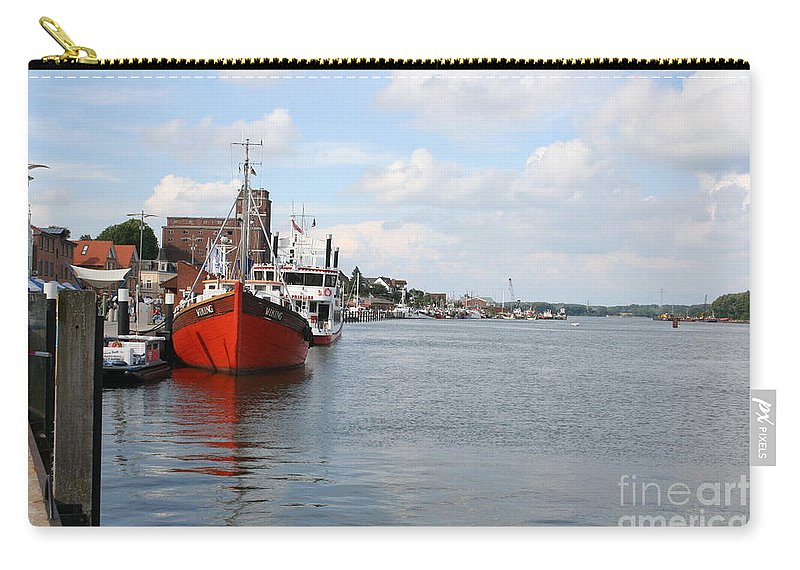 Fjord Carry-all Pouch featuring the photograph Fjord Schlei - Kappeln by Christiane Schulze Art And Photography