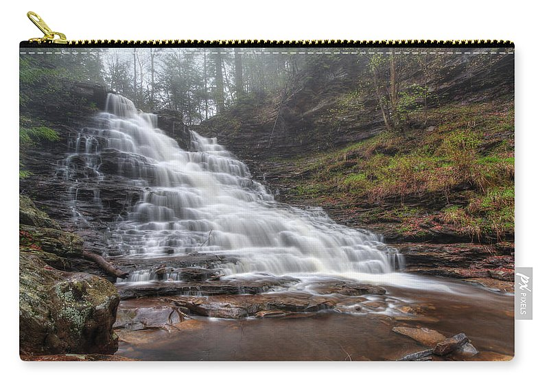 Water Carry-all Pouch featuring the photograph Fl Ricketts Waterfall by Lori Deiter