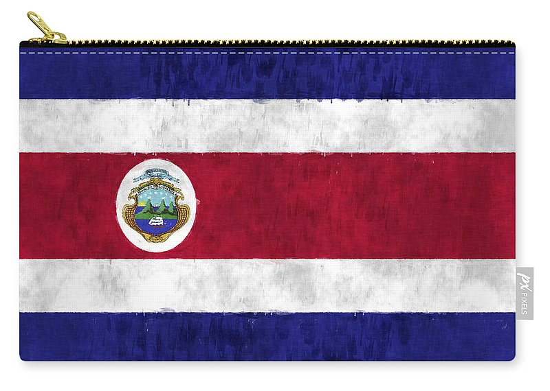 Central America Carry-all Pouch featuring the digital art Flag Of Costa Rica by World Art Prints And Designs