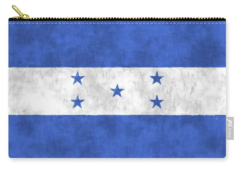 Central America Carry-all Pouch featuring the digital art Flag Of Honduras by World Art Prints And Designs