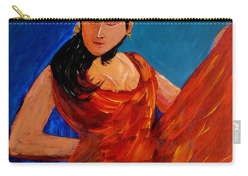 Flamenco Carry-all Pouch featuring the painting Flamenco by Anthony Dunphy