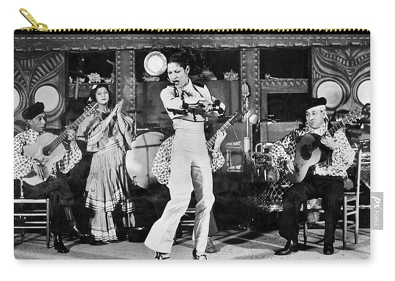 1942 Carry-all Pouch featuring the photograph Flamenco Dancer, 1942 by Granger