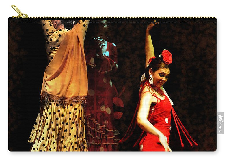Flamenco Series Carry-all Pouch featuring the photograph Flamenco Series #6 by Mary Machare