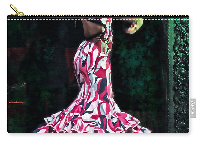 Flamenco Carry-all Pouch featuring the photograph Flamenco Series No. 10 by Mary Machare