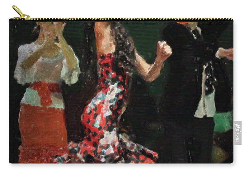 Flamenco Series #13 Carry-all Pouch featuring the photograph Flamenco Series No 13 by Mary Machare