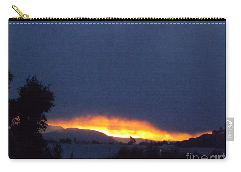 Sunrise Carry-all Pouch featuring the photograph Flaming Sunrise I by Jussta Jussta