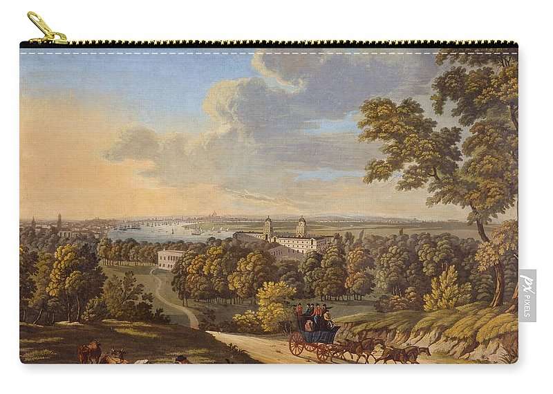 Flamstead Hill Carry-all Pouch featuring the drawing Flamstead Hill, Greenwich The by English School