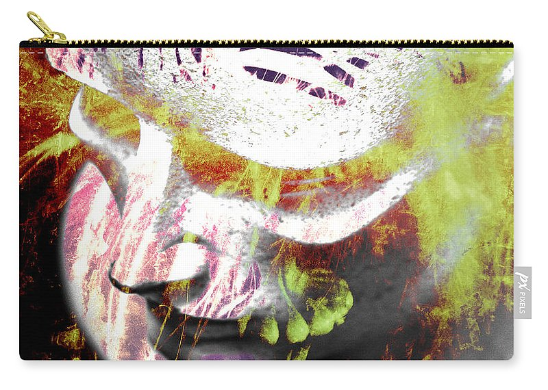 Abstract Art Carry-all Pouch featuring the photograph Flashy Frank by The Artist Project