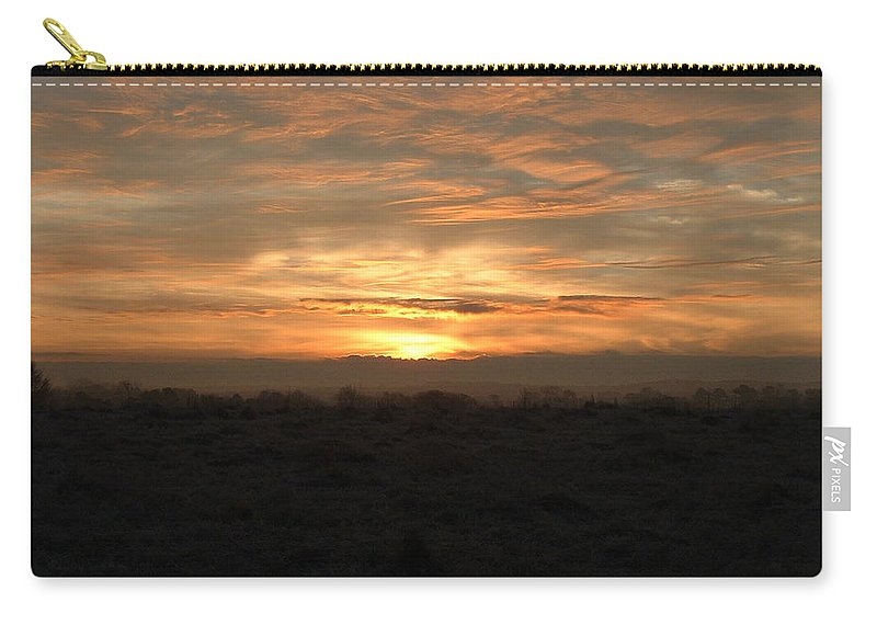 Sunrise Carry-all Pouch featuring the photograph Flat Line by Reid Callaway