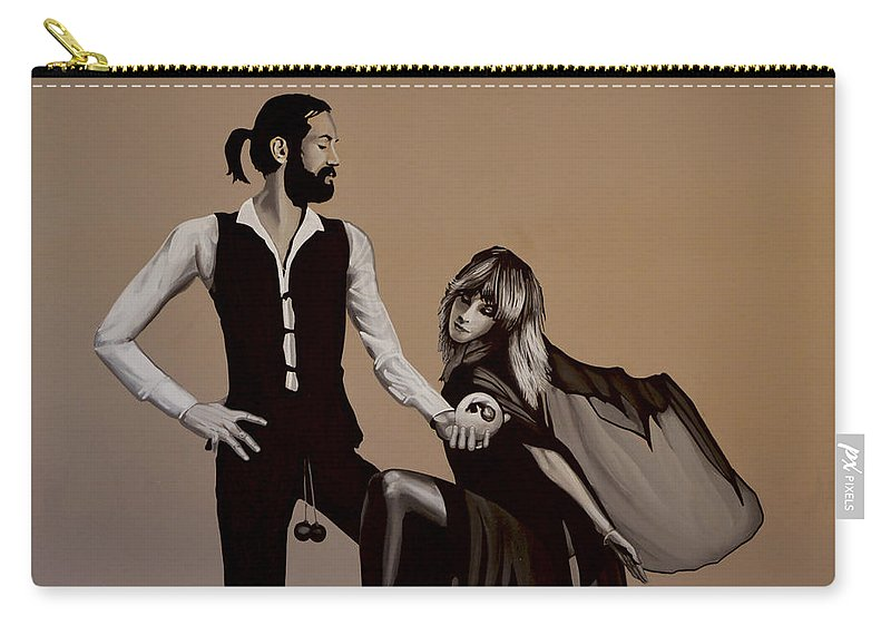 Fleetwood Mac Carry-all Pouch featuring the painting Fleetwood Mac Rumours by Paul Meijering