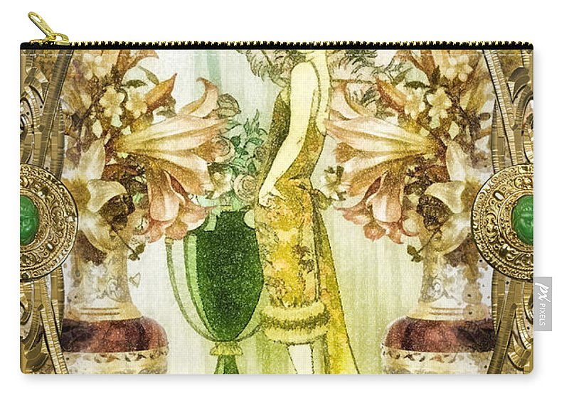 Fleurdelys.lilly Carry-all Pouch featuring the painting Fleurdelys by Mo T