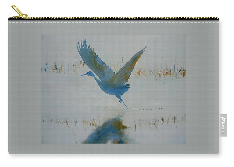 Bird Carry-all Pouch featuring the painting Flight by Lord Frederick Lyle Morris - Disabled Veteran
