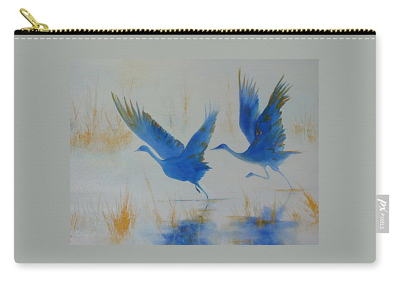 Flight Carry-all Pouch featuring the painting Flight II by Lord Frederick Lyle Morris - Disabled Veteran
