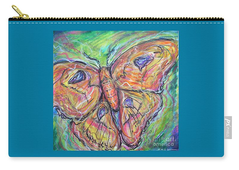 Moth Carry-all Pouch featuring the painting Flight Of The Moth by M c Sturman