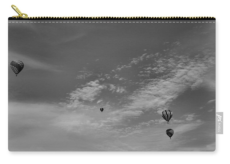 Hot Air Balloon Photograph Carry-all Pouch featuring the photograph Flight To The Past by Dan Sproul