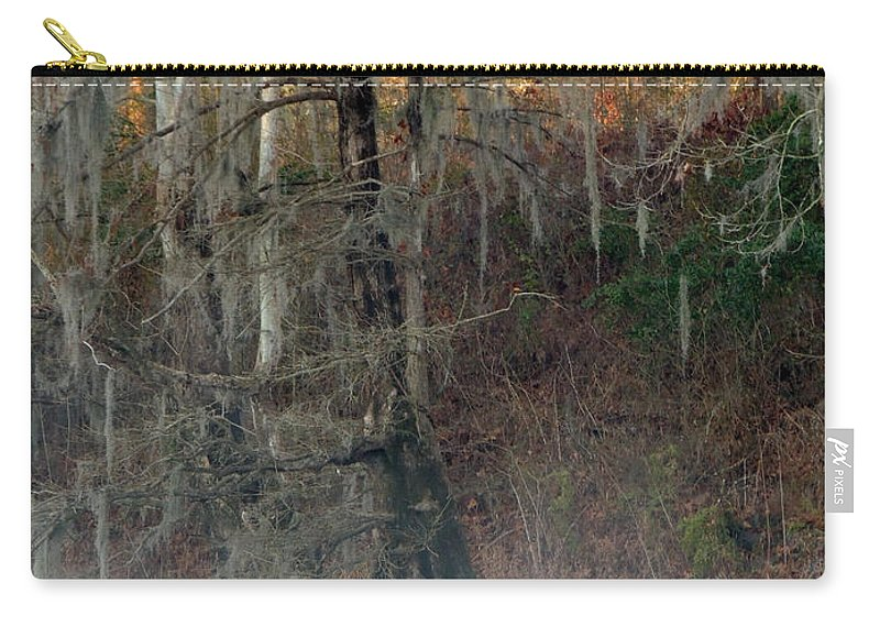 Digital Photography Carry-all Pouch featuring the photograph Flint River 15 by Kim Pate