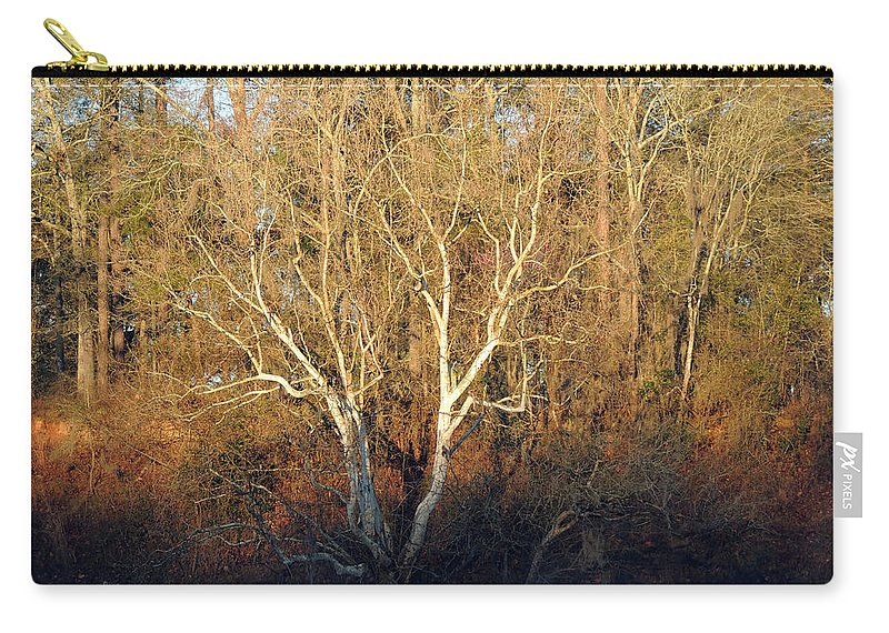 Digital Photography Carry-all Pouch featuring the photograph Flint River 16 by Kim Pate