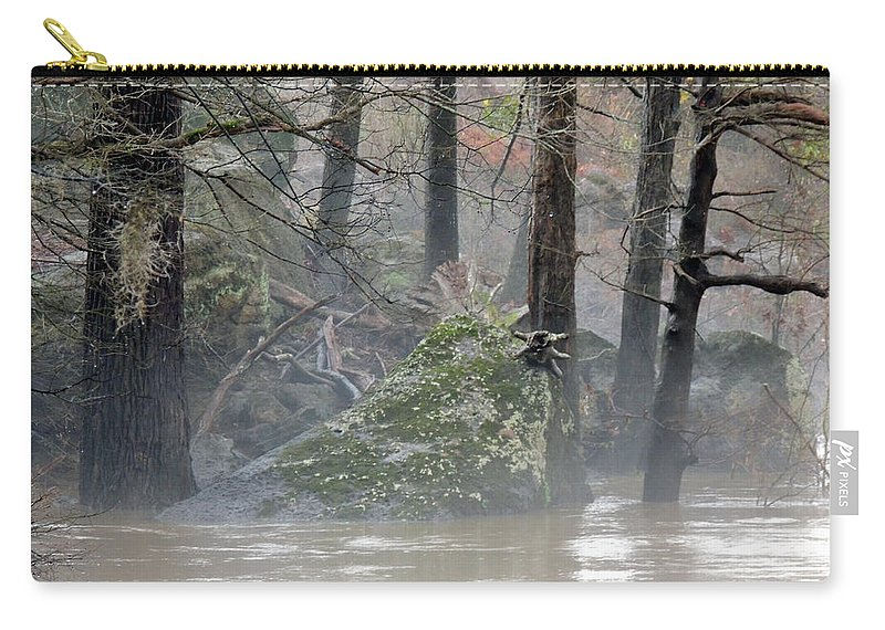 Flint River Rising Carry-all Pouch featuring the photograph Flint River Rising by Kim Pate