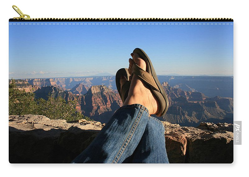 Flip Flop View Carry-all Pouch featuring the photograph Flip Flop View by Marty Fancy