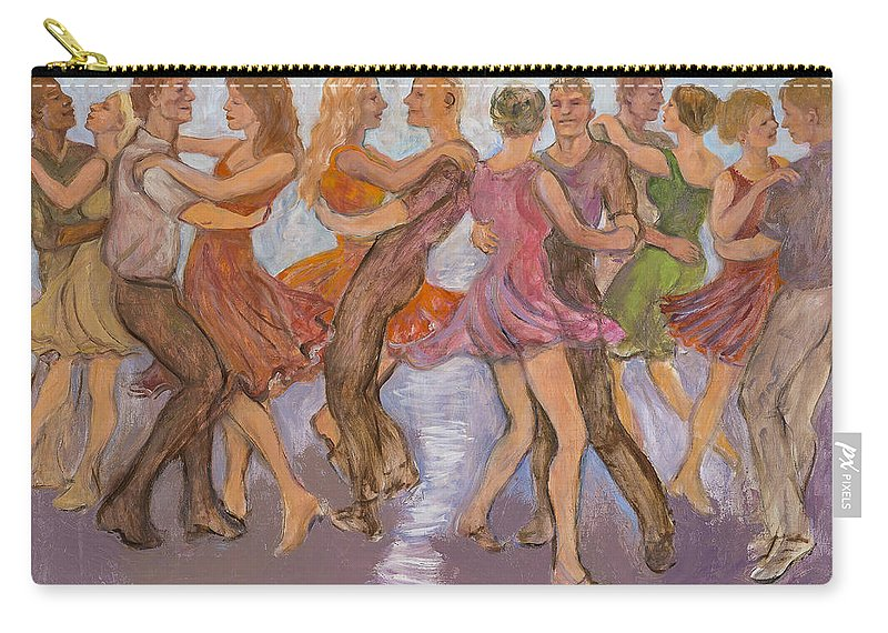 Dance Carry-all Pouch featuring the painting Flirtation Reel by Laura Lee Cundiff
