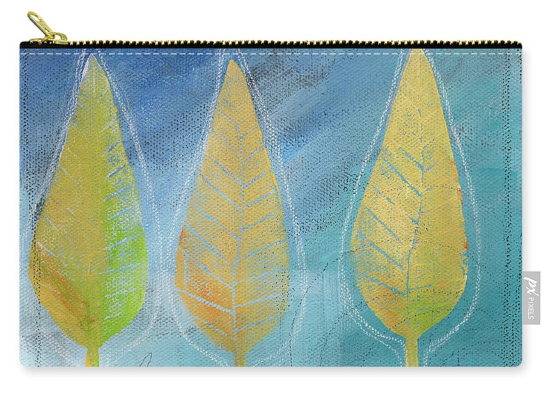 Abstract Carry-all Pouch featuring the painting Floating by Linda Woods