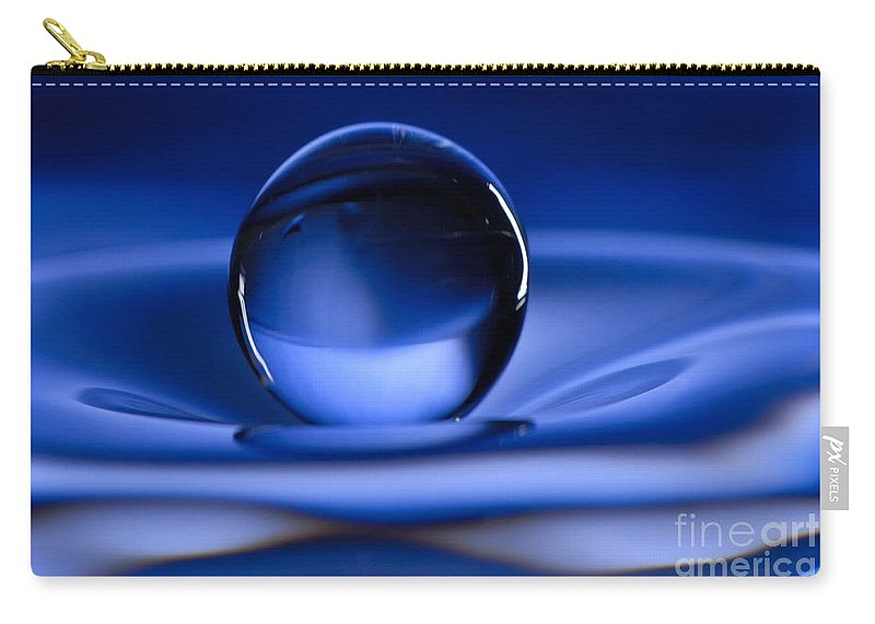 Water Drop Carry-all Pouch featuring the photograph Floating Water Drop by Anthony Sacco
