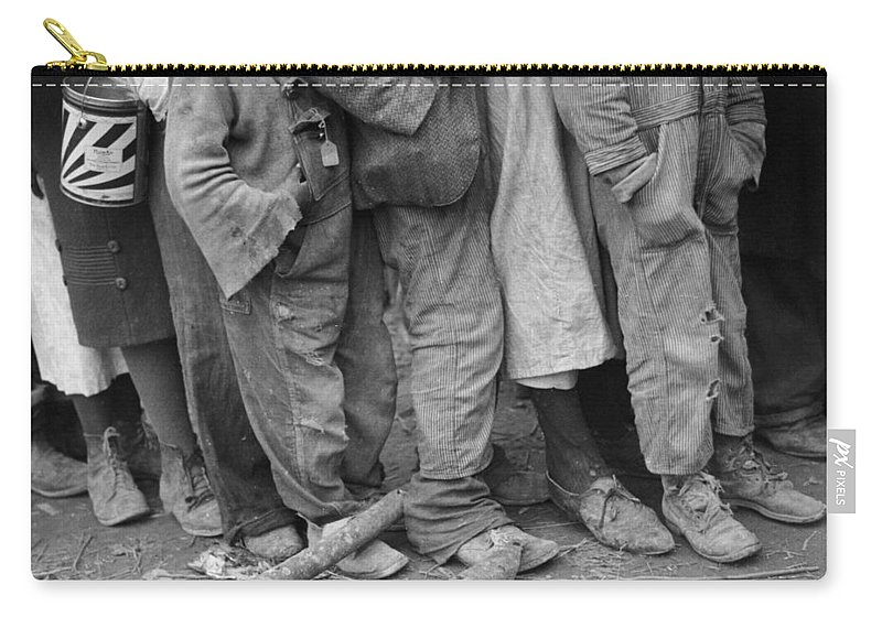 1937 Carry-all Pouch featuring the photograph Flood Refugees, 1937 by Granger