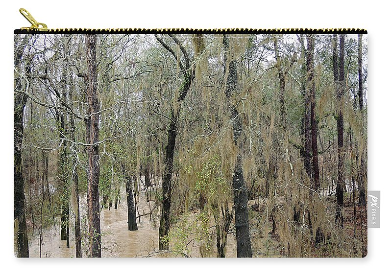 Dry Creek Carry-all Pouch featuring the photograph Flooding Dry Creek by Kim Pate