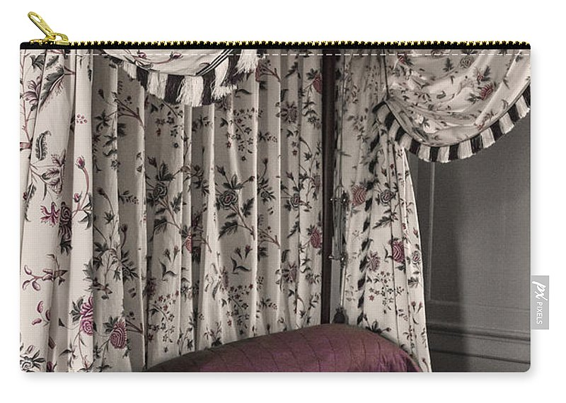 Bed Carry-all Pouch featuring the photograph Floral Canopy by Margie Hurwich