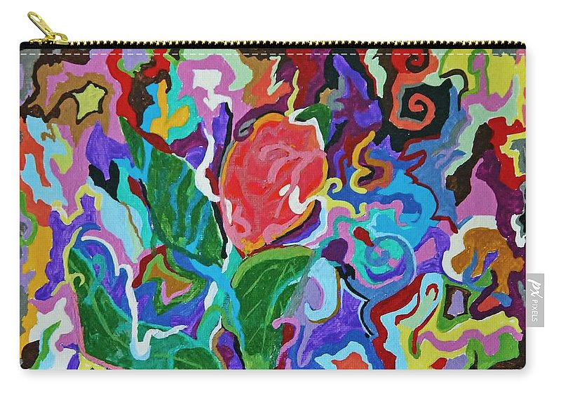 Water Color Painting Carry-all Pouch featuring the painting Floral Explosion by Catherine Melvin
